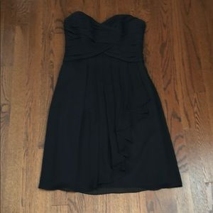 Dressy David's bridal Black chiffon dress size 2